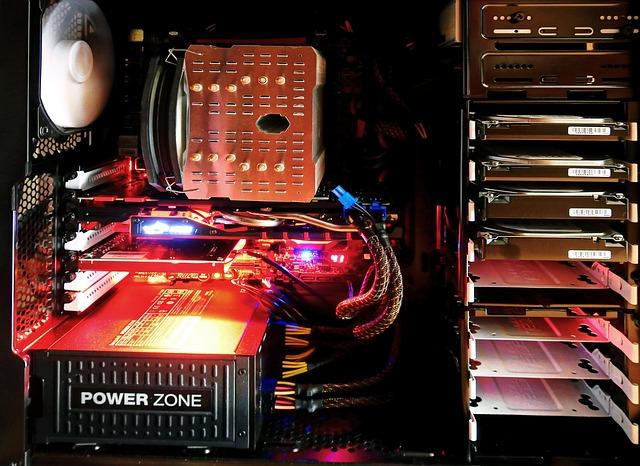 světla v počítači